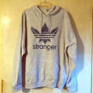 XXL Stranger Things grey hooded sweatshirt